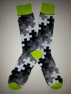 Autism Awareness Puzzle Socks