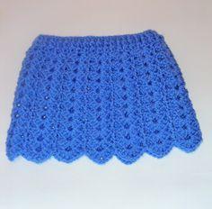Tutorial falda bebé fácil crochet punto fantasía calado y muestra falda ...