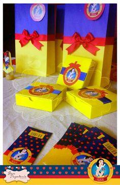 Fiesta Blanca Nieves - bolsas para sorpresas y cajitas para torta