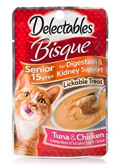 My cat Mia Loves this product!  I have learned that if you store the packs upside down and cut off the fold at the bottom you are able to get out more of the product.  Walmart does carry this product for .94 cents.