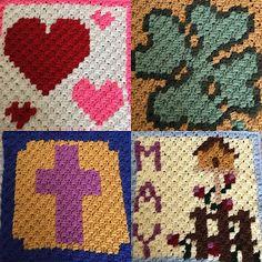 Pixel Graphs Crochet C2C blanket.  February, March, April & May....  -- The Perfect Stitch...: Pixel Graphs - Crochet C2C, Cross Stitch,...