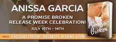 Rainy Days and Pajamas: Excerpt & Giveaway: A Promise Broken by Anissa Garcia