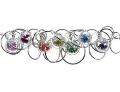 Rainbow Seven Bubble Necklace - Charlotte Verity. http://manchesterjewellersnetwork.org/