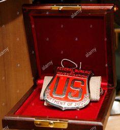 J. Edgar Hoover's FBI Raid Badge (1934) Public Enemies, Badge, Bucket, Buckets, Badges, Aquarius