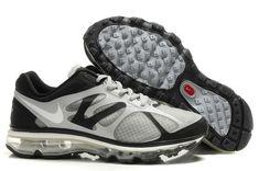 2014 New Air Max 2012 Breathable Mens Shoes Gray Black Nike Air Max Black 722972d42