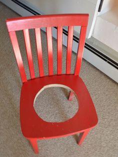 Heb jij nog oude meubels over waar je niks meer mee doet? Het volgende idee is onwijs leuk om eens te proberen met een oude stoel!