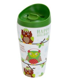 Look at this Holiday Owl Lidlock 14-Oz. Travel Mug on #zulily today!