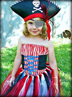 Pirate girl. This is cute, I think it would look better with cap sleeves or even little straps.