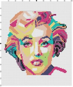 Marilyn Monroe Cross Stitch PDF by CrossStitchGraphghan on Etsy