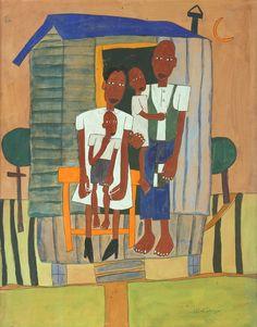William Henry Johnson, Homesteaders, ca. 1942, Alexandre Gallery William H Johnson, Henry Johnson, Black Art Painting, Seattle Art, Canadian Art, Afro Art, Poses, Museum Of Modern Art, Art Fair