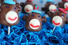 vintage sock monkey party (with aqua incorporated)
