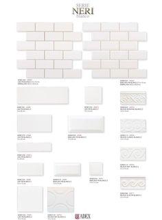 Neri | ADEX Desde 1897 - Azulejo Decorado y Exportación S.L. Subway Tile Backsplash, Kitchen Backsplash, Tiles, Tile Manufacturers, Guest Bath, The Hamptons, Bathroom Ideas, Floor Plans, Google