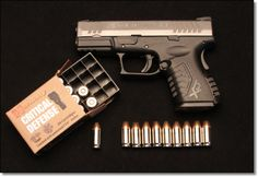 You're not bulletproof..., Springfield Armory XDM .45 Compact 3.8 A small... Find our speedloader now! http://www.amazon.com/shops/raeind
