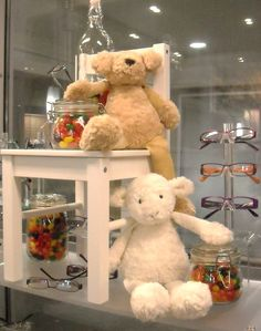 Kids #eyewear display. #merchandising ideas. Dino Vespi. Back To School and the Holidays.