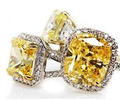 Beautiful canary diamonds