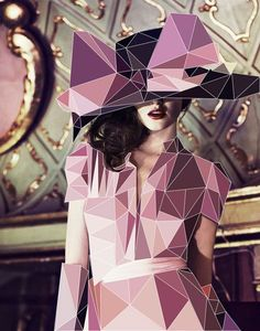 Photo manipulation-- love the angular shapes and color palette. Cubist inspired.