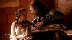 Ned and Arya <3
