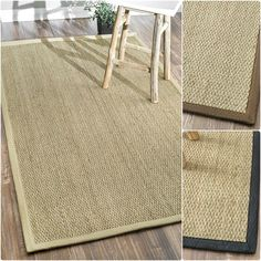nuLOOM Handmade Natural Fiber Cotton Border Seagrass Beige Rug (9' x 12') - Overstock™ Shopping - Great Deals on Nuloom 7x9 - 10x14 Rugs