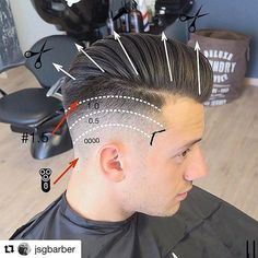 Undercut Guide for Men! Undercut Hairstyles, Hairstyles Haircuts, Haircuts For Men, Hair And Beard Styles, Short Hair Styles, Hair Cut Guide, Hair Cutting Techniques, Hair Barber, Tattoo Style