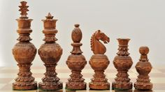 Handcarved Globe Chess Set Shesham Wood w/o Board