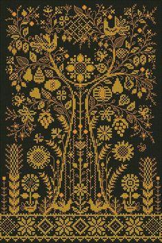 Украинское родовое (семейное) дерево:  схема в ній є і богиня макош і родине деревво над нею і веретено з нитю мороздання і птахи і символи плодороддя на спідничці