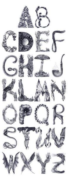 revistaabcdesign:    Tipografia ilustrada por http://www.behance.net/eika  Via NFgraphics.