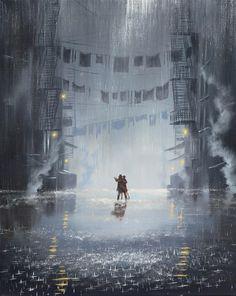 Jeff Rowland - Dance Between The Raindrops Romantic Hug, Romantic Dance, Rain Painting, Music Painting, Rain Photo, Singing In The Rain, Environment Concept Art, Rain Drops, Story Inspiration
