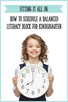 How to create a Kindergarten daily schedule with a balanced literacy block! This post includes sample schedules for full day and half day Kindergarten. - Learning At The Primary Pond