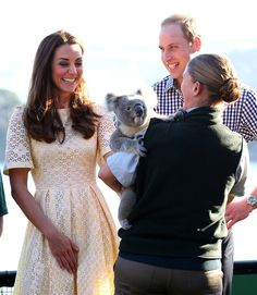Kate flashed a giant grin when they met a koala at Taronga Zoo in | Will and Kate's Cutest Snaps of the Year | POPSUGAR Celebrity
