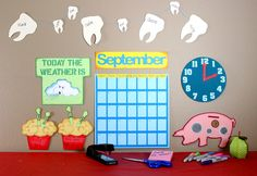 School Days Cutting Collection: A full teacher's calendar set created for the classroom or home learning.