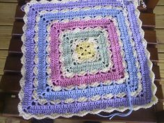 Precious Square Baby Blanket ~ link to free pattern