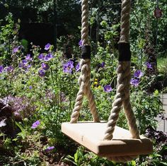 This stunning wooden tree swings are handmade in  London from the finest sustainable English Oak and rope from the world famous Chatham Dockyard Ropery. Each of their swings is handmade to order unsing traditional methods and is delivered with 5m of superior chunky ropey and instructions on how to hang it safely from your tree.