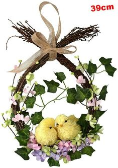 13 gorgeous Easter wreaths to buy right now 13 gorgeous Easter wreaths to buy right now,Anleitung Basteleien Frühling&Ostern Gisela Graham Twig Easter Wreath With Chicks and Flowers Related of the Best Farmhouse Spring. Easter Flower Arrangements, Easter Flowers, Diy Spring Wreath, Spring Crafts, Wreath Crafts, Diy Wreath, Easter Wreaths, Christmas Wreaths, Diy Ostern