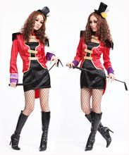 2015 Special Offer New Adult Sexy Halloween Party Circus Tamer Costume Fancy Magician Cosplay Dress Ps4696(China (Mainland))