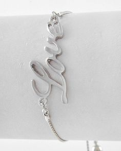 'Silver Love Bracelet' is going up for auction at  8pm Wed, Jan 9 with a starting bid of $10.