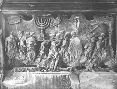 "Biblical Archeology Society [Sep/Oct 1979] ""Was There a Seven-Branched Lampstand in Solomon's Temple?"" click for caption: The captured menorah from the Second Temple is depicted in bas-relief on the Arch of Titus in Rome. This famous triumphal arch commemorates the destruction of Jerusalem by Titus in 70 A.D. and, perhaps, gives us a graphic representation of the last of the series of menorahs which stood in the Second Temple"