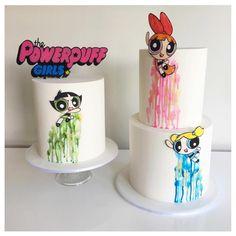 Powerpuff Girls cake awesomeness from @ivyandstonecakedesign !!!