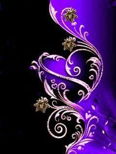 ~ Purple Wallpaper--qulling pattern, maybe? Purple Love, All Things Purple, Shades Of Purple, Purple And Black, Pink Purple, Purple Hearts, Purple Stuff, Periwinkle, Wallpaper Free