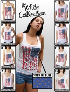 Sisters, Stars, and Stripes with Bling $19.95 #Greek #Sorority #Clothing #America #Bling #American #AmericanFlag #Exclusive #NoMinimums #WhiteCollection