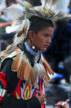 Native American Dancer at a Pow Wow.