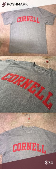 Cornell T-shirt Enjoy this gray college T-shirt with red embroidered Cornell logo. Represent this Ivy League anywhere you are 💪🏼   Bundle to save 15% 😍  FAST SHIPPING ALWAYS Jansport Tops Tees - Short Sleeve