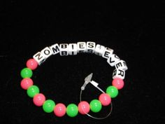 new zombies forever bead Bracelets fashion jewelry stretch undead one size
