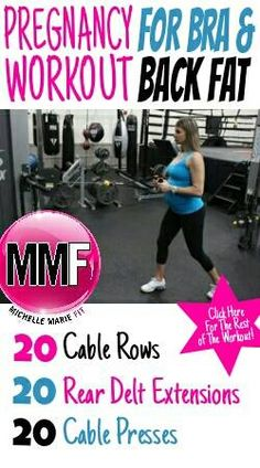 Bra & Back Flab Pregnancy Exercises - Michelle Marie Fit - Pregnancy workout for the back and bra fat which tends to get bad during pregnancy. Post Pregnancy Workout, Prenatal Workout, Pregnancy Quotes, Back Fat Workout, Belly Fat Workout, Fat Burning Workout, Plank Workout, Healthy Pregnancy Tips, Pregnancy Health