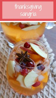 This sangria is made with seasonal fruit and bubbling Spanish cava. This sangria is made with seasonal fruit and bubbling Spanish cava. Thanksgiving Sangria, Thanksgiving Parties, Thanksgiving Recipes, Fall Recipes, Holiday Recipes, Thanksgiving Alcoholic Drinks, Thanksgiving Appetizers, Sangria Recipes, Drinks Alcohol Recipes