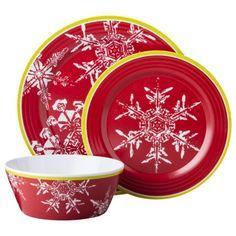 Threshold™ Snowman 12 Piece Dinnerware Set - Multicolor