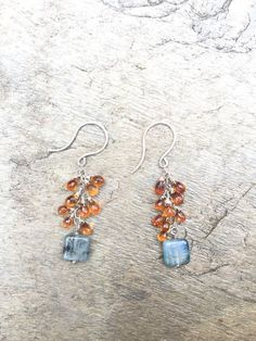Hey, I found this really awesome Etsy listing at https://www.etsy.com/listing/276812192/citrine-and-square-kyanite-earrings
