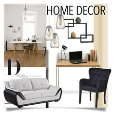 """""""Home Office"""" by clotheshawg ❤ liked on Polyvore featuring interior, interiors, interior design, home, home decor, interior decorating, TemaHome, Mikasa, Dot & Bo and home office"""