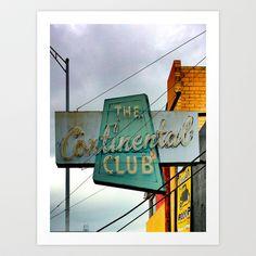 The Continental Club Art Print by Sid Pena - $20.00