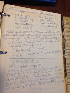From an old recipe book I found at the Goodwill Kansas Buttermilk Cake Retro Recipes, Old Recipes, Vintage Recipes, Cookbook Recipes, Sweet Recipes, Baking Recipes, Cake Recipes, Dessert Recipes, Southern Recipes
