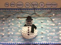Winter display at Springmead School, Beckington, Somerset.